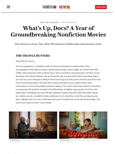 What's Up, Docs? A Year of Groundbreaking Nonfiction Movies