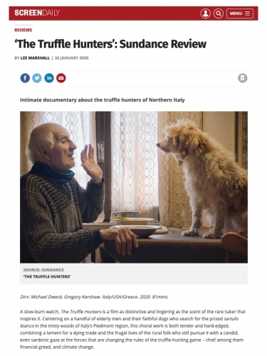 'The Truffle Hunters': Sundance Review