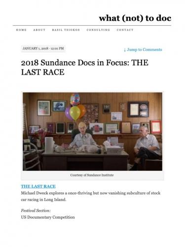 2018 Sundance Docs in Focus: THE LAST RACE
