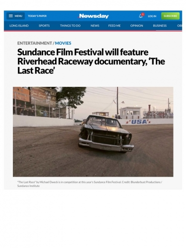 Sundance Film Festival will feature Riverhead Raceway documentary, 'The Last Race'