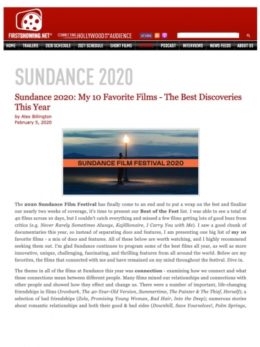 Sundance 2020: My 10 Favorite Films - The Best Discoveries This Year
