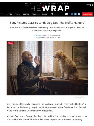 Sony Pictures Classics Lands Dog Doc 'The Truffle Hunters'