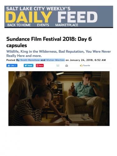 Sundance Film Festival 2018: Day 6 capsules