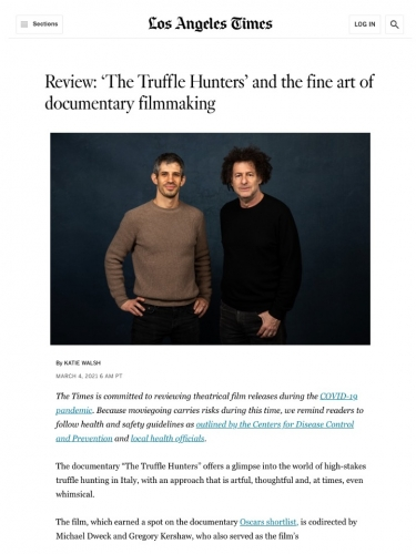 Review: 'The Truffle Hunters' and the fine art of documentary filmmaking
