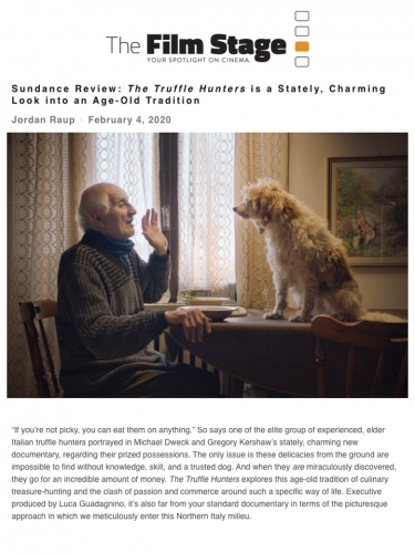 Sundance Review: The Truffle Hunters is a Stately, Charming Look into an Age-Old Tradition