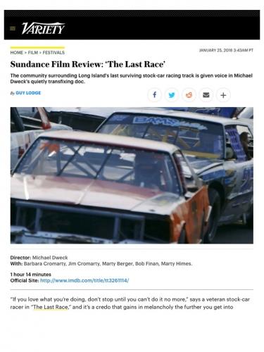 Sundance Film Review: 'The Last Race'