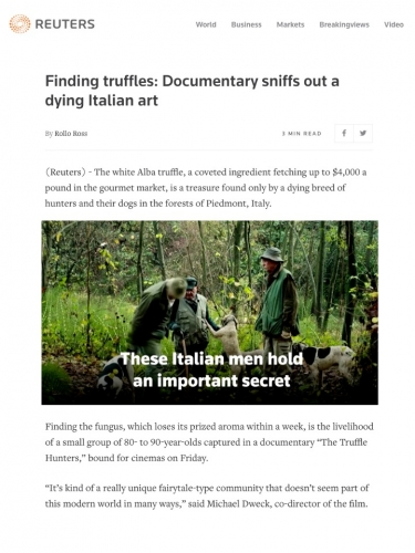 Finding truffles: Documentary sniffs out a dying Italian art