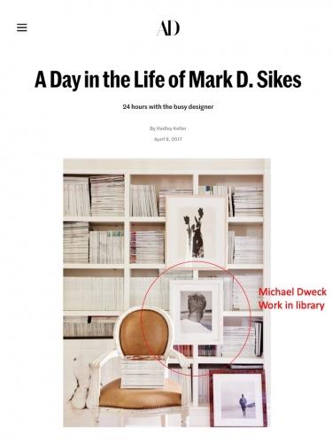 Michael Dweck work in Interior Designer Mark D. Sikes home