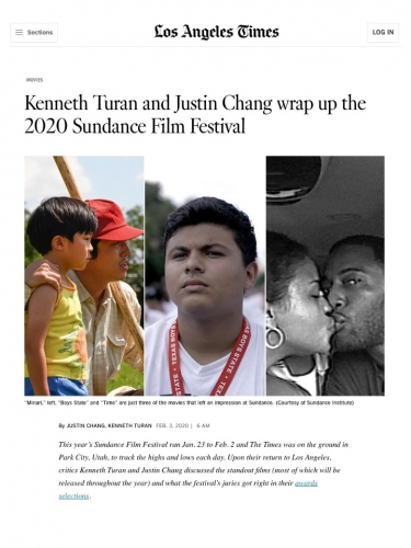 Kenneth Turan and Justin Chang wrap up the 2020 Sundance Film Festival