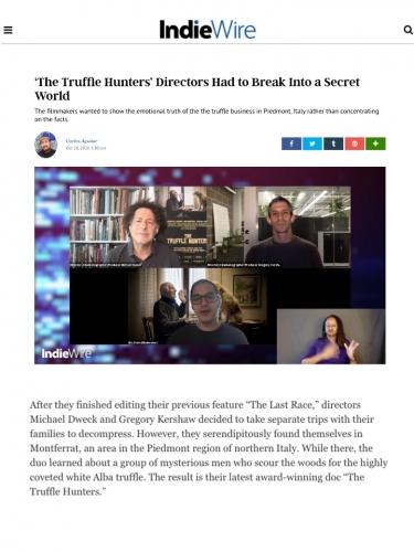 'The Truffle Hunters' Directors Had to Break Into a Secret World