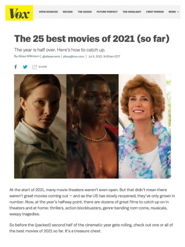 The 25 best movies of 2021 (so far)