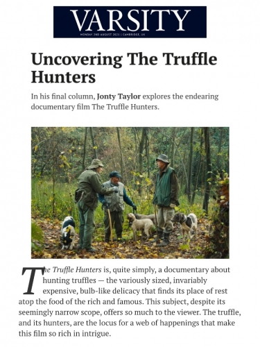 Uncovering The Truffle Hunters