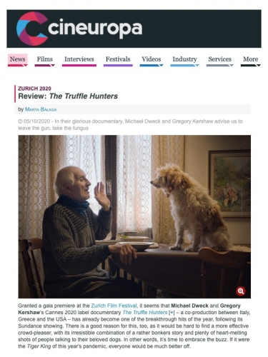 Zurich 2020 Review: The Truffle Hunters