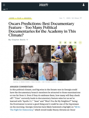 Oscars Predictions: Best Documentary Feature