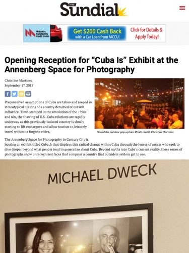 "Opening Reception for ""Cuba Is"" Exhibit at the Annenberg Space for Photography"