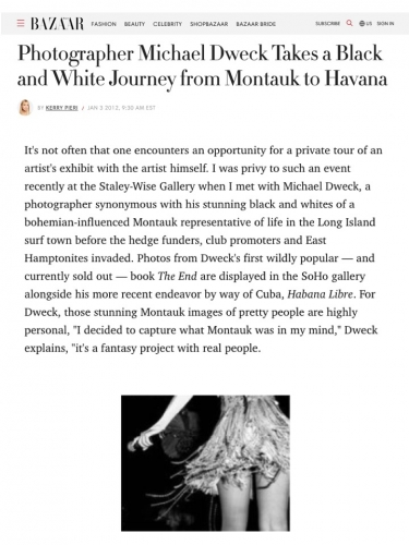 Photographer Michael Dweck Takes a Black and White Journey from Montauk to Havana