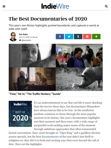 The Best Documentaries of 2020