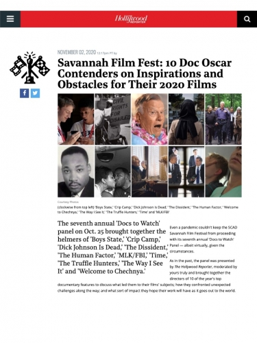 Savannah Film Fest: 10 Doc Oscar Contenders on Inspirations and Obstacles for Their 2020 Films