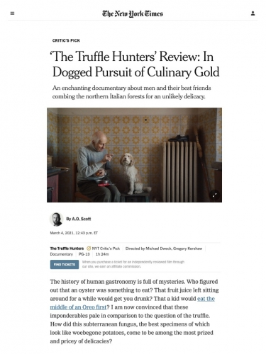 'The Truffle Hunters' Review: In Dogged Pursuit of Culinary Gold