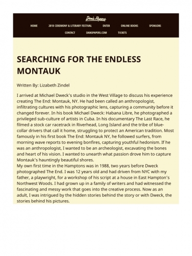 SEARCHING FOR THE ENDLESS MONTAUK