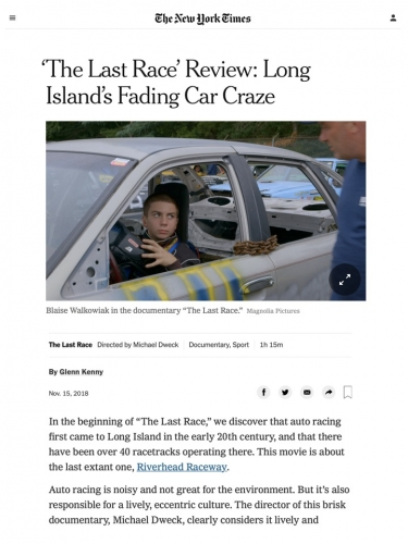 'The Last Race' Review: Long Island's Fading Car Craze