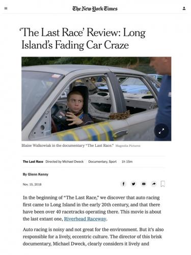 'The Last Race' Review: Long Island's Fading Car Craze