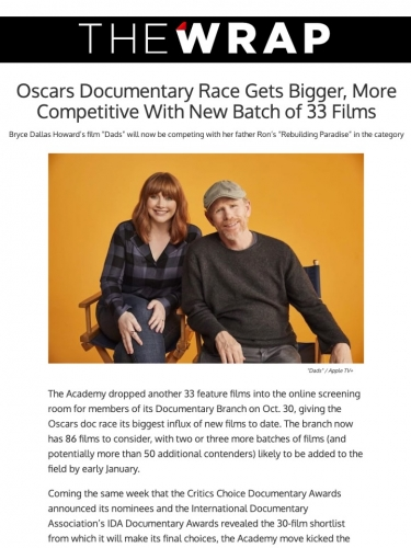 Oscars Documentary Race Gets Bigger, More Competitive With New Batch of 33 Films