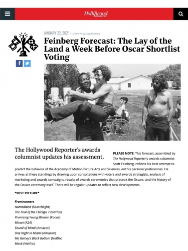 Feinberg Forecast: The Lay of the Land a Week Before Oscar Shortlist Voting