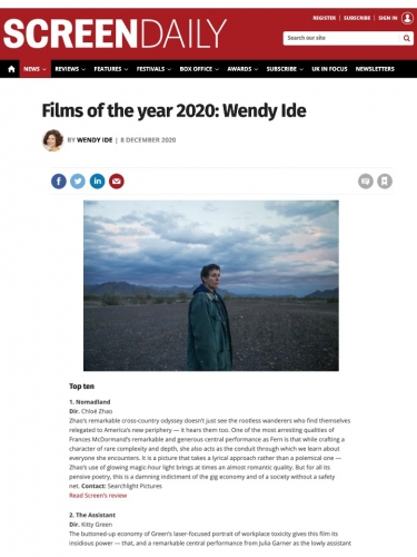 Films of the year 2020: Wendy Ide