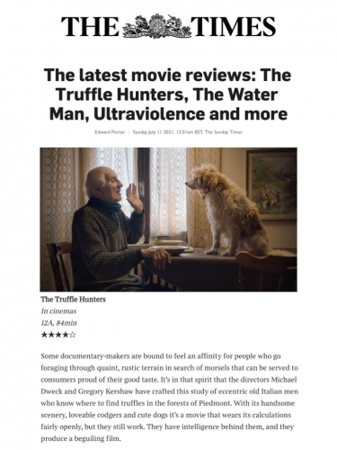 The latest movie reviews: The Truffle Hunters, The Water Man, Ultraviolence and more