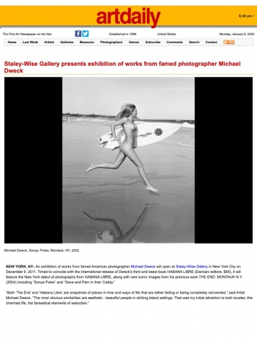 Staley-Wise Gallery presents exhibition of works from famed photographer Michael Dweck