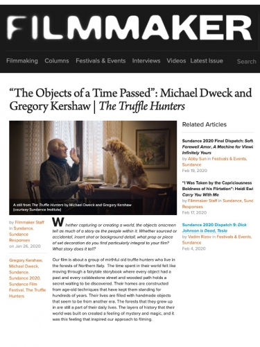 """""""The Objects of a Time Passed"""": Michael Dweck and Gregory Kershaw 