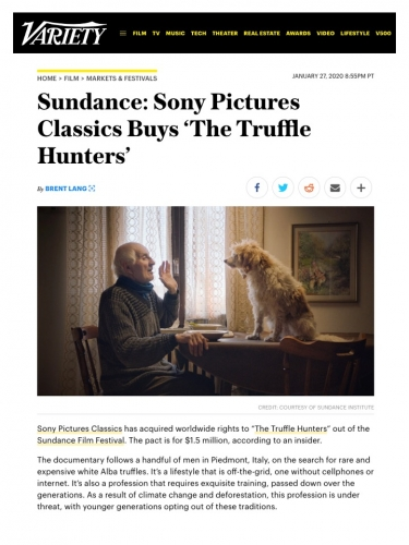 Sundance: Sony Pictures Classics Buys 'The Truffle Hunters'
