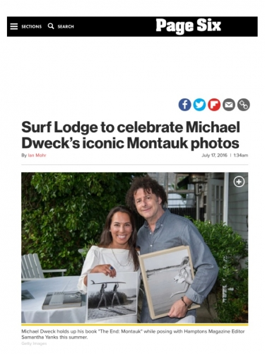 Surf Lodge to celebrate Michael Dweck's iconic Montauk photos