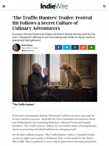 'The Truffle Hunters' Trailer: Festival Hit Follows a Secret Culture of Culinary Adventurers