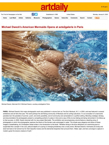 Michael Dweck's American Mermaids Opens at acte2galerie in Paris