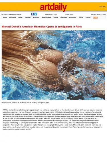 Michael Dweck's American Mermaids Opens at acte2galerie in Paris