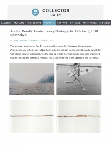 Auction Results: Contemporary Photographs, October 3, 2018 Sotheby's