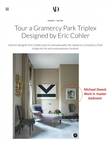 Michael Dweck work in Gramercy Park Triplex Designed by Eric Cohler