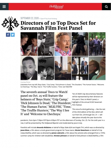 Directors of 10 Top Docs Set for Savannah Film Fest Panel