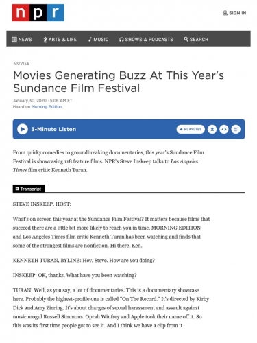 Movies Generating Buzz At This Year's Sundance Film Festival