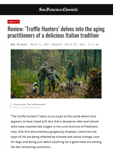 Review: 'Truffle Hunters' delves into the aging practitioners of a delicious Italian tradition