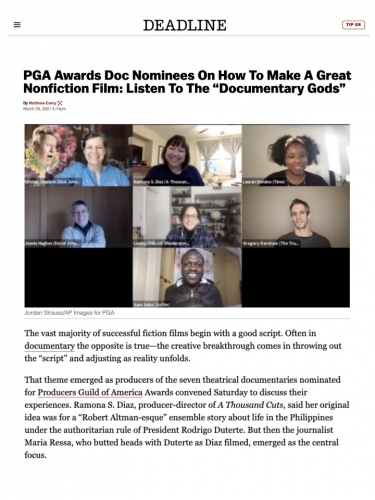 """PGA Awards Doc Nominees On How To Make A Great Nonfiction Film: Listen To The """"Documentary Gods"""""""