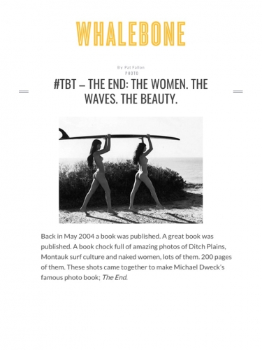 The End: The Women. The Waves. The Beauty.