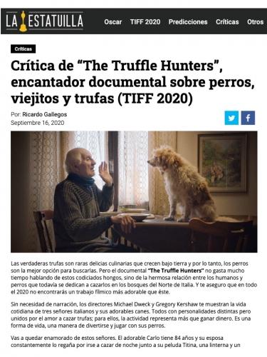 """Crítica de """"The Truffle Hunters"""", encantador documental sobre perros, viejitos y trufas (TIFF 2020)"""