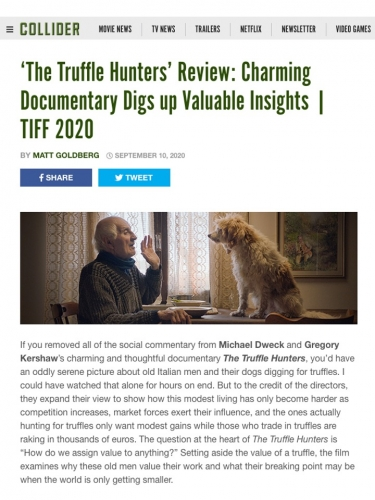 'The Truffle Hunters' Review: Charming Documentary Digs up Valuable Insights | TIFF 2020