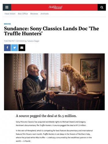 Sundance: Sony Classics Lands Doc 'The Truffle Hunters'