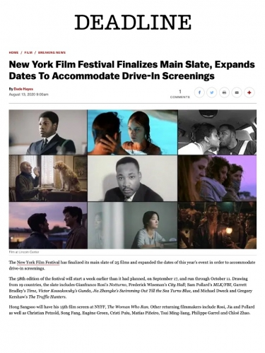 New York Film Festival Finalizes Main Slate