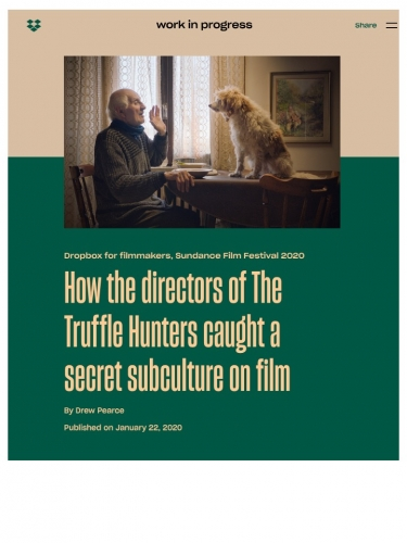 How the directors of The Truffle Hunters caught a secret subculture on film