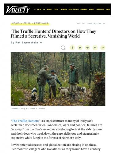 'The Truffle Hunters' Directors on How They Filmed a Secretive, Vanishing World